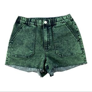 Wild Fable Green Denim Shorts Size Small